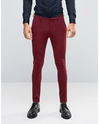 Super skinny suit pants in dark red medium 823086