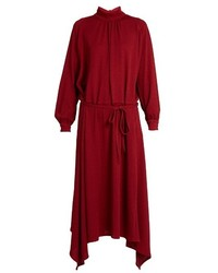 Golden Goose Deluxe Brand Gabi Asymmetric Hemline Crepe Dress