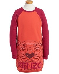 Kenzo Girls Graphic Tiger Sweatshirt Dress