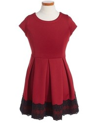 Ruby & Bloom Girls Lilian Pleated Dress