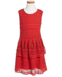 Girls Peek Tessa Tiered Lace Dress