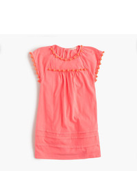 J.Crew Girls Pom Pom T Shirt Dress