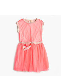 J.Crew Girls Tulle Dress With Bow