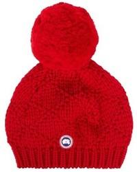 Canada Goose Pompom Embellished Wool Beanie Hat