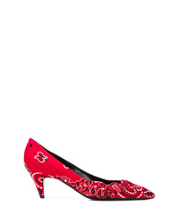 Saint Laurent Bandana Style Pumps