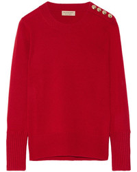 Burberry Embellished Cashmere Sweater Claret