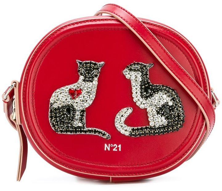 No.21 No21 Embellished Cat Crossbody Bag