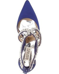 Badgley Mischka Glamour Crystal Embellished Pointy Toe Pump
