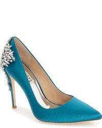 Badgley Mischka Gorgeous Crystal Embellished Pointy Toe Pump