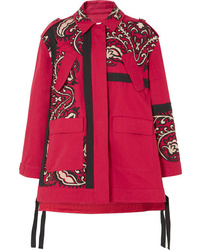 REDVALENTINO Oversized Embroidered Cotton Twill Jacket
