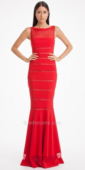 JS Collections Js Collection Illusion Fluted Evening Gown | Where to ...