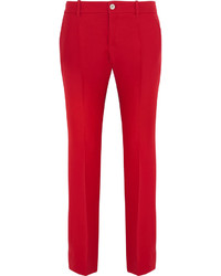 Gucci Wool And Silk Blend Crepe Flared Pants It38