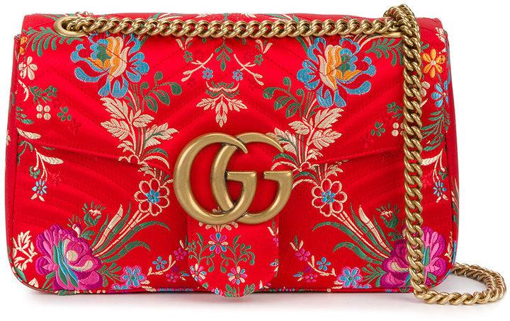 be73935f4753 Gucci Floral Jacquard Gg Marmont Shoulder Bag, £1,408 | farfetch.com ...