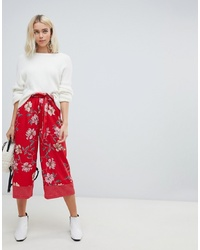 Influence Wide Leg Floral And Polka Dot Trousers With
