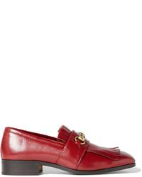 Gucci Gran Duca Horsebit Grained Leather Kiltie Loafers