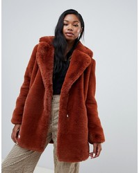 Bershka Faux Fur Coat