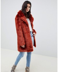 ASOS DESIGN Plush Faux Fur Coat