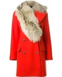 MSGM Fur Collar Coat