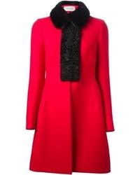 Valentino Fur Collar Coat