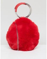 New Look Round Fur Bag