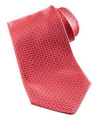 Salvatore Ferragamo Micro Gancini Silk Tie Red