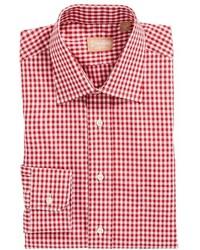 Red Gingham Dress Shirt