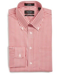 Shop traditional fit non iron gingham dress shirt medium 414696