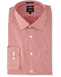 Red Gingham Long Sleeve Shirt