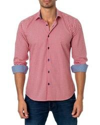 Trim fit gingham sport shirt medium 755548