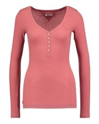 Tommy Hilfiger Basic Long Sleeved Top Red