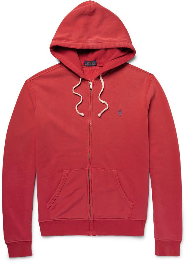 ... Polo Ralph Lauren Fleece Back Cotton Blend Jersey Zip Up Hoodie ... f10549f60