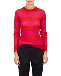 Red Horizontal Striped Crew-neck Sweater