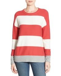 Caslon Contrast Cuff Crewneck Sweater