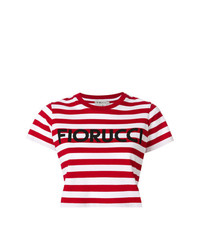 Fiorucci Striped Cropped T Shirt