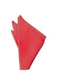 Red Horizontal Striped Pocket Square