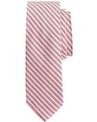 J.Crew Cotton Silk Tie In Heritage Red Stripe