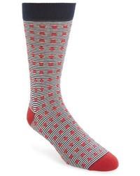 Red Horizontal Striped Socks