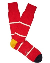 Paul Smith Striped Cotton Blend Socks