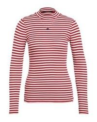 Vintage inspired long sleeved top red medium 4240752