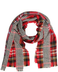 Red Houndstooth Scarf