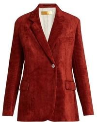 Golden Goose Deluxe Brand Crystal Button Corduroy Jacket