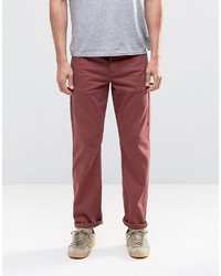 Stretch slim jeans in burgundy medium 798708