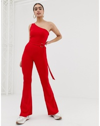 In The Style Billie Faiers One Shoulder Jumpsuit