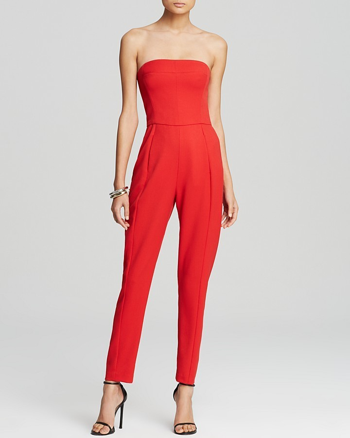 9ea74d363f0 Women s Fashion › Jumpsuits › Red Jumpsuits Black Halo Jumpsuit Iris  Strapless