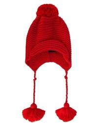 Gucci Pompom Ribbed Knit Beanie Hat