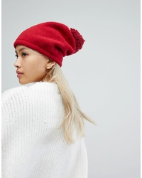 Helene Berman Spaghetti Pom Pom Hat In Red