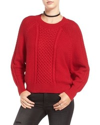 Cable knit dolman sweater medium 827518
