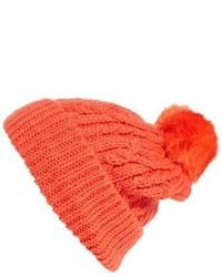 Hinge Knit Pompom Beanie Pink
