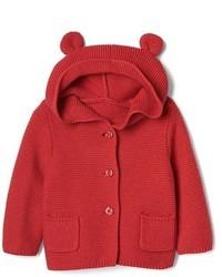 Red Knit Hoodie