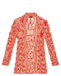 Open knit wool blend cardigan medium 335398